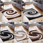 NEW CIRCLE,SWIRL DESIGN SHAGGY RUGS 5CM MODERN RUGS THICK COSY SHAGGY RUG SALE