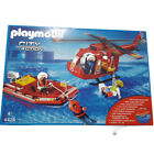 Playmobil Fire Rescue SOS Helicopter Rescue Boat 4428 Helikopter Rettungsboot