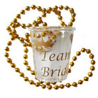 BULK BUY OFFERS TEAM BRIDE SHOT GLASSES NECKLACE HEN PARTY NIGHT DO BRIDE TO BE