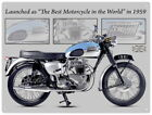 88236 Triumph Bonneville Motorcycle Wall Art Sign Decor WALL PRINT POSTER CA $13.32 USD on eBay