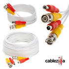 Siamese Cable CCTV Security Camera Wire Power Video Surveillance Cord BNC Lot  <br/> Black White 10 20 30 50 75 100 FT