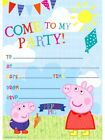 20 x PEPPA PIG Invitation Sheets Come to My Party George includes envelopes Kids