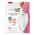 Purina Fancy Feast Purely Natural Hand-Flaked Salmon Cat Treat, 1.06 oz. Pouch,