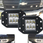 "Flush Mount LED Light Pod Cube Dual Row Spot Beam 6000K Work Light Bar 4WD 3""X2"
