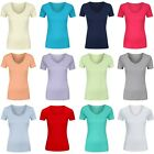 Marks & Spencer Womens Pure Cotton Short Sleeve V Neck New M&S T Shirt Top Tee
