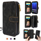 For Samsung S8 & S8 Plus Genuine Leather Zipper Wallet Multifunction Cover Case