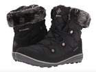 Columbia Womens Heavenly Shorty Omni-Heat Lace Up Boots Black Winter Snow