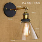 New Modern Glass Shade Wall Sconce Outdoor Wall Light Studio in Brass Finished