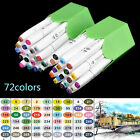 72 Colors Graphic Artist Sketch Copic Markers Pen Set Dual Headed For Animation