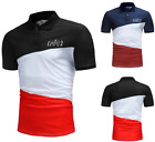 2018 Summer new  T-shirt Color Fight large size fashion casual men's POLO T-shir