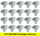 BULK 12V 35W MR16 Gu5.3 Halogen Light Lamp Globes Bulbs Dimmable Wide Beam