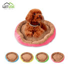 Washable Soft Pet Dog Cat Bed Round Kennel Doggy Cushion Sleeping House S M L 9