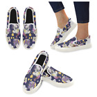 InterestPrint Custom Cute Unicorn Slip On loafers Women's Canvas Flat Shoes