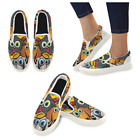InterestPrint Custom Many Cute Dogs Slip On loafers Women's Canvas Flat Shoes