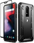 Poetic Revolution FullBody Rugged Heavy Duty Case + Tempered Glass for OnePlus 6
