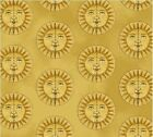 Sun Galileo Fabric Gold Cotton Windham Fabrics BTY BTHY