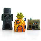 Aquarium Ornament Spongebob Squidward Pineapple Fish Tank Cave Cartoon Decor Pop