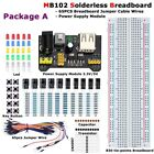 MB102 Solderless Breadboard Protoboard 830 Tie Point Test Circuit PCB Set