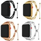 Lady Stainless Steel Wrist Band Bangle Cuff Bracelet Fr Apple Watch 3/2/1 Series image