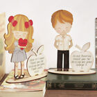 Engraved Personalised Handmade Teacher Gift Leave School Thank You Wooden Figure