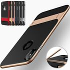 For iPhone 6/6S X 8 7 Shockproof PC Cover Transparent/Plaid Case With Kick-Stand