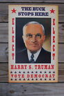93436 Harry S Truman campaign The Buck Stops Here Decor WALL PRINT POSTER AU