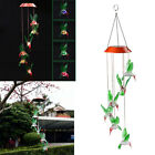 LED Solar Color Changing Moon Star Wind Chimes Home Yard Garden Decor Light NEW