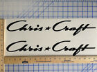 CHRIS CRAFT BOAT DECALS 18 COLORS AVAILABLE EMBLEM PAIR HIGHEST QUALITY STICKERS cheap