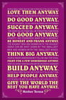 107985 Mother Teresa Anyway Purple Quote Decor WALL PRINT POSTER UK