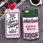 Hot Cute Love Pills Soft Silicone Rubber Cover Back Skin For Various Phone Case