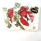 Vintage Finess Paper Dinner Napkins Lobster 2 Sealed Packages 40 Total Sweden