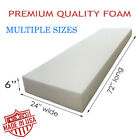 """Medium Density Upholstery Seat Foam Cushion Replacement Home Auto Crafts 24""""x72"""""""