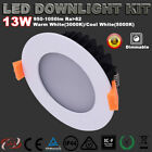 13W LED Downlight Kit Dimmable Warm/Cool White 3 Yrs Warranty Recessed Lights