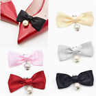 1 Pc Removable Shoes Decor Bow Ribbon Shoe Clip Womens Accessories Charms Pearl