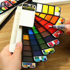 Внешний вид - Portable Whirl Solid Watercolor Pigment Paint Set With Water brush Bright Color