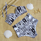 Womens Lady Swimwear Bikini Set push up Bra high waisted Swimsuit Beach
