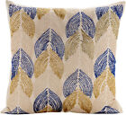 "Ivory Decorative Pillow Covers 16""x16"", Art Silk Pillow Covers - Burj Al Arab"