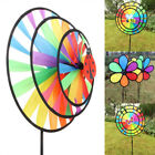 2/4/6/8/10X Colorful Rainbow Wind Spinner Windmill Ground Stake Outdoor Decor UK