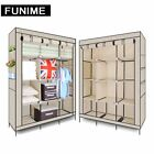 Multiple colors Single Double Triple Canvas Wardrobe With Hanging Rail storage <br/> &radic;Free Side Cloth &radic;16mm Tube Stronger Bearing Force