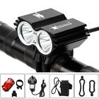 12000LM LED Bicycle Front Light Bike Headlight with Rear Warning Lamp Reflector
