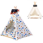NEW Dog Puppy Cat Kitten Teepee Tipi Tent House with Mattress Chalkboard Zoo