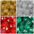 BeadTin Sparkle 10mm Faceted Round Craft Beads (210pcs) - Color choice