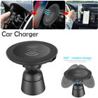 Wireless Car Charger Magnetic Air Vent Mount Holder For Samsung iPhone X
