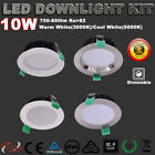 1/6X RECESSED IP44 10W FLAT/CONCAVE DIMMABLE LED DOWNLIGHT KIT WARM/COOL WHITE