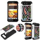 Hybrid Crystal for ZTE Overture 2  Maven Shock Proof Thin Case Bling Dual Layer