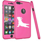 For iPhone 360° Thin Slim Case Cover + Screen Protector French Bulldog Yoga