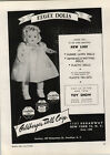 1948 PAPER AD Eegee Dolls Goldberger Corp Baby Dressed