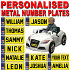 PERSONALISED KIDS RIDE ON PEDAL ELECTRIC CAR MINI NUMBER PLATE - Trike Truck Toy