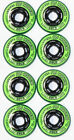 4er 8er Set REVISION Classic green Hockey Rollen 72mm/74A Inliner Skates 18-N3