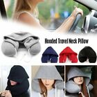 Travel Hoodie Pillow U-Shape Microbeads Neck Pillow for Airplane Travel Office